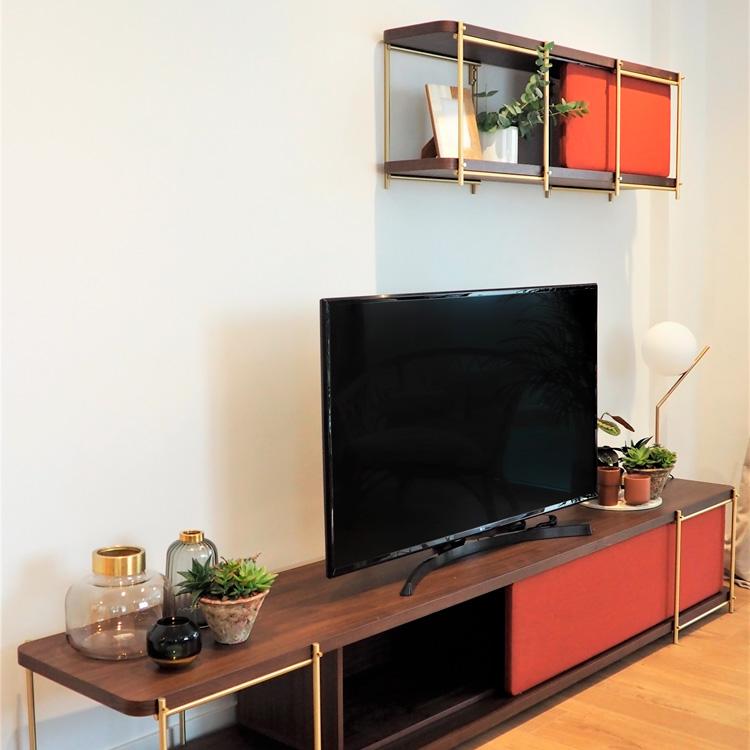 mobiliario de diseño de salón. Momocca - Caliza Estudio